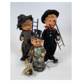 2 Goebel Chimney Sweep dolls & light