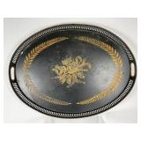 French Made Large Black/Gold Serving Tray