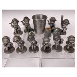 Avon Pewter statues & Various Thimbles