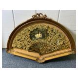 Framed Antique Victorian fan