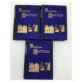 3 volume set British battles of land and sea