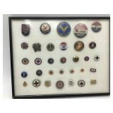 Red cross and other pin lot