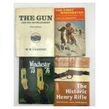 Winchester and henry rifle book lot