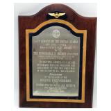1966 US Navy League Plaque