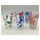 Six Vintage Water Glasses
