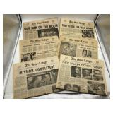July 23 30 1969 Moon Landing Newspapers