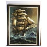 Painting of ship at sea