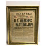 War Extra newspaper