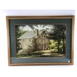 Beautiful color print of old stone building