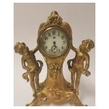 Victorian gilt metal Putto clock