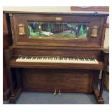 "J.P Seeburg Coin-Op ""E"" Piano in glass case"
