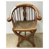 Antique Chinese Chair with Rattan Seat