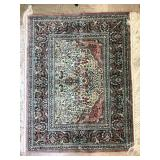 "LR-Small 49"" x 38"" Chinese Silk Rug"