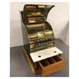 Early brass cash register