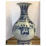 Large Japanese blue and white vase