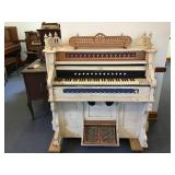 Packard Pump Organ - Painted White
