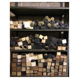 Shelving section of miscellaneous piano rools