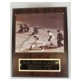 Autographed photo of Joe DiMaggio