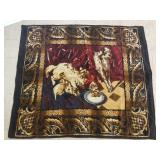 Cats and dog pictorial lap blanket