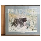Don Griffiths signed artist print El Lobo Negro