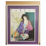Itzchak Tarkay framed print of a reclining woman