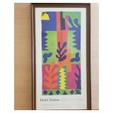 1977-78 Henri Matisse art exhibit framed poster
