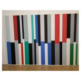 Large Pat Lipsky abstract painting