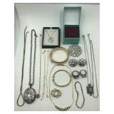 Costume and sterling jewelry lot