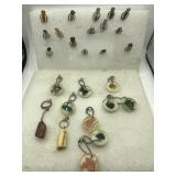 Polished stone key chains and page markers