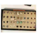 19 pair screw back earrings with polished