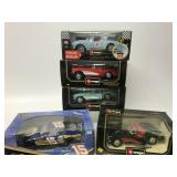 5 Boxed 1:18 Cars