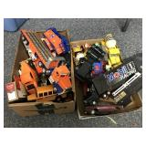 2 boxes of die cast vehicles