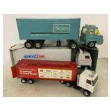 Ertl tractor trailer semi lot pressed steel