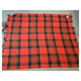 Burns Country plaid wool blanket