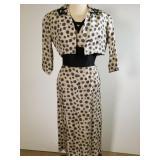 1940s Howard Greer silk dress & jacket