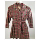 1940s Childs Aquatogs plaid rainjacket