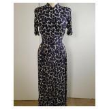 1940s elephant pattern dress