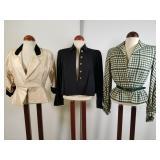 3 vintage Bonwit Teller jackets & 1 skirt