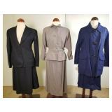 3 vintage suits, Maurice Rentner, Emil Otto, etc