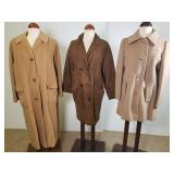 3 vintage wool and suede coats