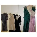 7 vintage dresses & gowns