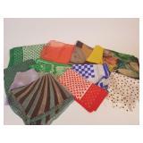 12 vintage scarves