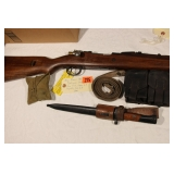 Mauser 98K Teakwood stock 8mm with accessories