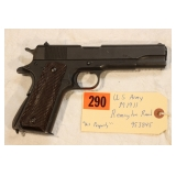 US Army M1911 Remington Rand .45