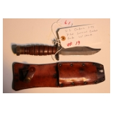 U.S. Ontario 1-73 pilot survival combat knife with sheath