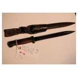 German WWII 84/89 pattern bayonet with scabbard & frog