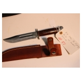 RH PAL 36 fighting knife with leather sheath