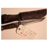 USMC Ka-bar fighting knife WWII