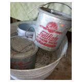 Minnow Buckets & Large Metal Bin