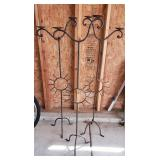 Lot of 3  Rod Iron Candle Stands